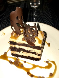 Lionfish: chocolate mousse cake